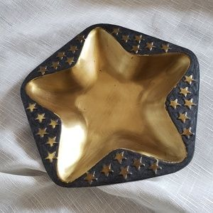 Other - Brass Gold Cosmic Star Shaped Dish Tray